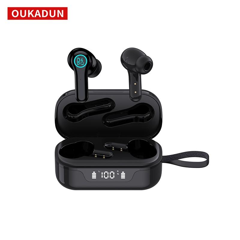 Tws fone de ouvido sem fio bluetooth, controle de toque, modo duplo estéreo 3d, microfone de alta fidelidade
