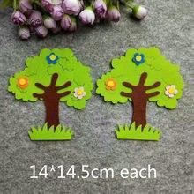Autocollant mural arbre vert en feutre Non tissé, accessoires pour livre de classe pour enfants, travaux manuels, bricolage, bricolage, feuilles, école maternelle