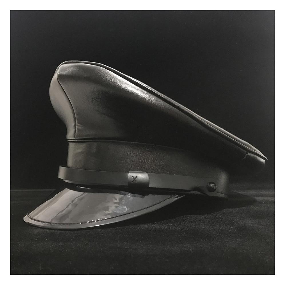 Steampunk en coton noir style militaire Visiere