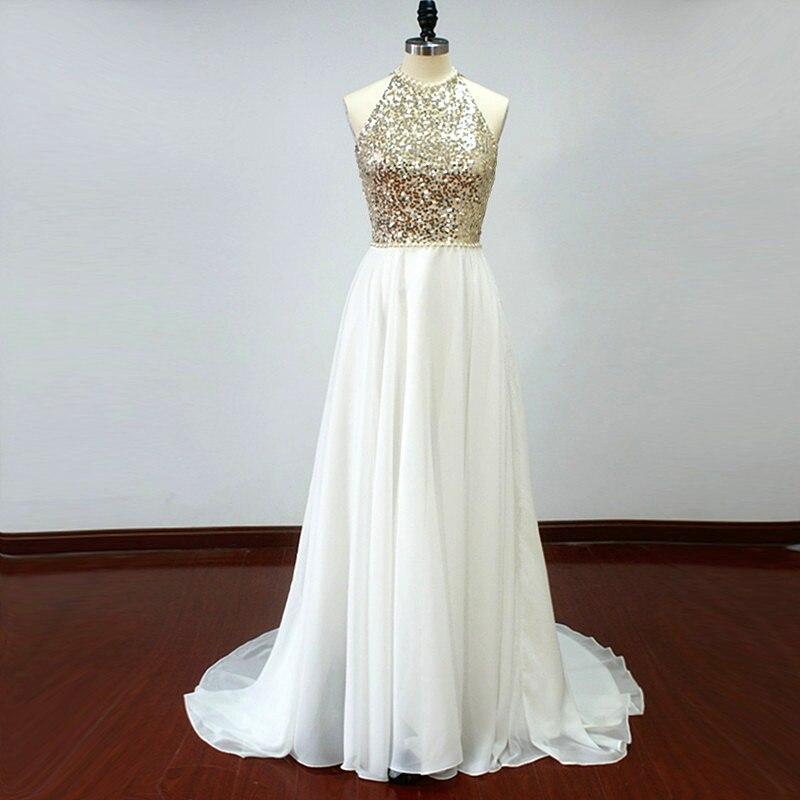 Ivory Champagne Sequin Chiffon Bridesmaid Dresses 2020 Wedding Party Gowns For Bridesmaid Vestidos De Festa Para Senhoras Casame
