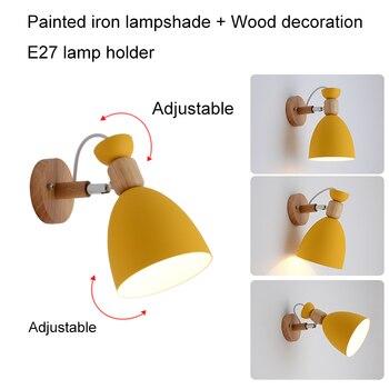 Светодиодный настенный светильник, Регулируемая лампа для спальни, Скандинавская настенная лампа, современные настенные светильники для д...