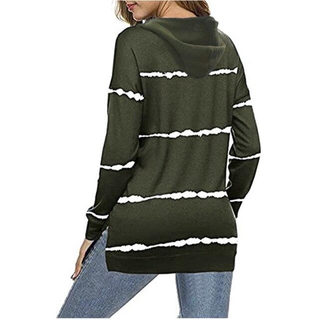 Oversize Women Tie Dye Drawstring Hooded Sweatshirt Autumn 2020 New Winter Long Sleeve Casual Loose Hoodies Tops Plus Size S-5XL 4