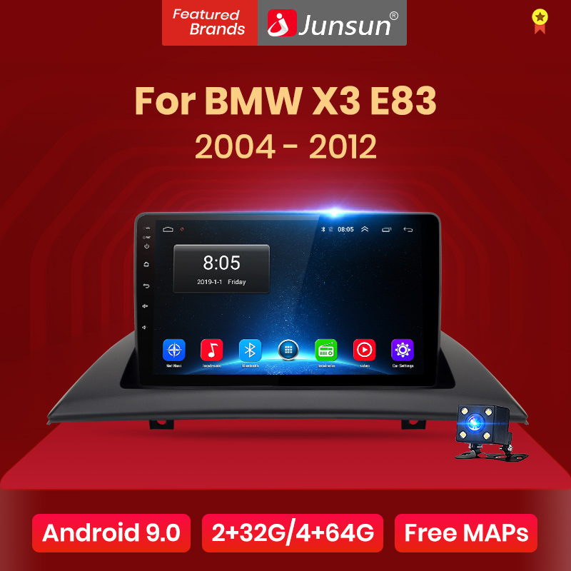 Junsun V1 2G + 32G Android 9,0 para BMW X3 E83 2004 - 2012 auto Radio Multimedia reproductor de Video GPS de navegación 2 din dvd