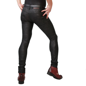 Image 5 - Plus Size PU Faux Leather Slim Pencil Pants Mens Cowboy Style Tight Trousers Jogger Camouflage Military Male Gay Erotic Legging