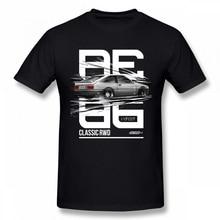 Cool  AE86 Car T-shirt Anime Initial D Fujiwara Takumi  HachiRoku T Shirt Harajuku Tee цена