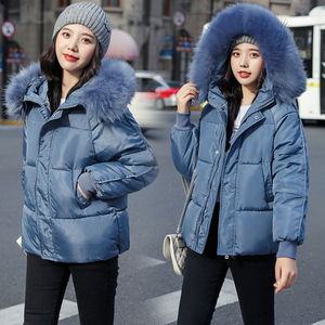 Image 3 - WXWT Winter Coats jacket parkas 2020 new women fashion large fur collar hooded thick cotton down jacket Russian winter coat