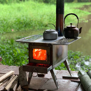 Wood Stove Multipurpose Camping-Tent Outdoor 304-Stainless-Steel Detachable Survival
