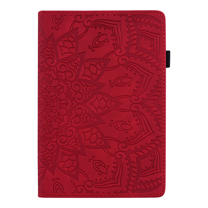 Red Red Wekays For Coque iPad 10 2 2019 Classic Flower Leather Funda Case For iPad 10 2