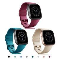 Correa de reloj para Fitbit Versa 2, repuesto Original de silicona, resistente al agua, accesorios de muñeca, pulsera en Versa2