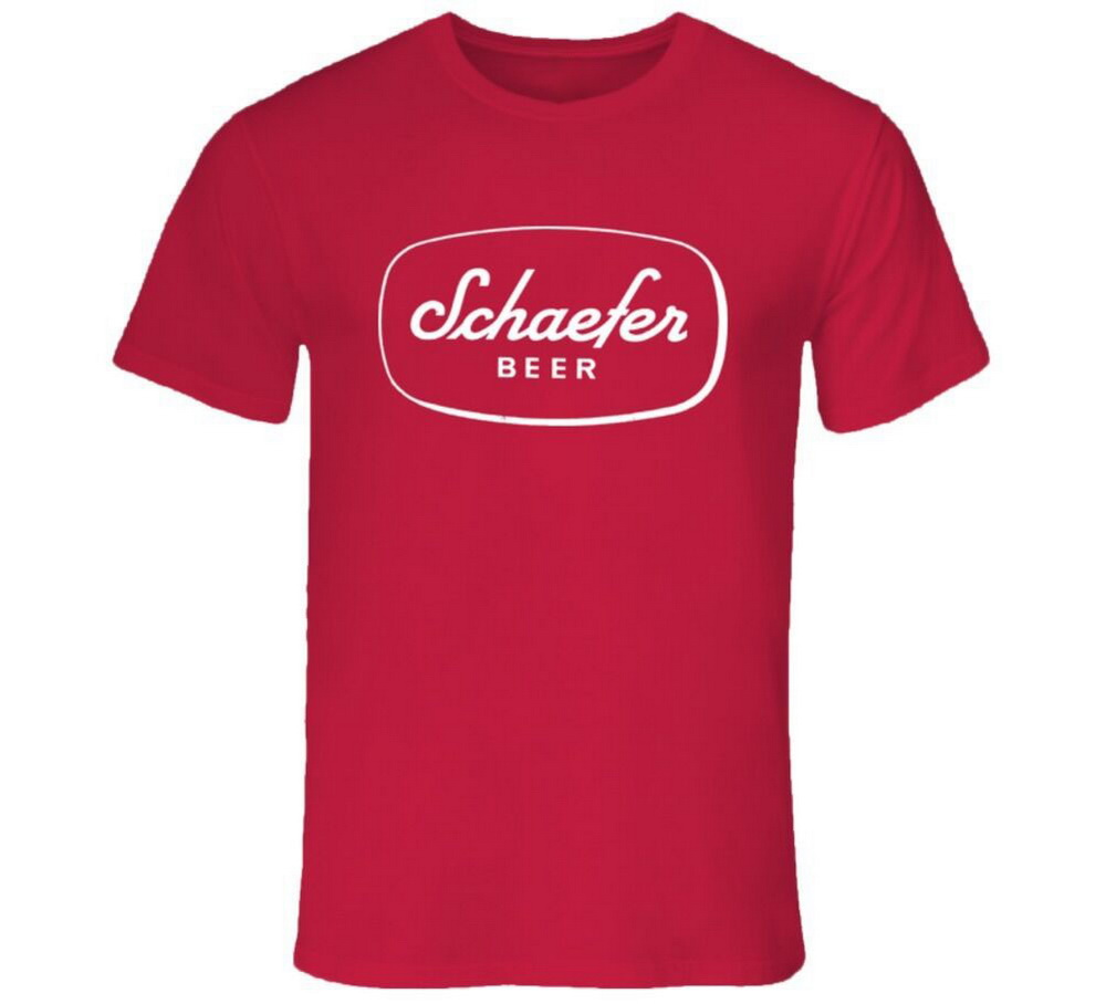 Schaefer Beer America Beer First Produce In New Yotk City 1842 T-Shirt Cotton Tee Shirt Streetwear Casual image