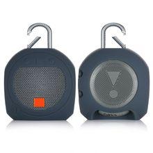 Capa protetora de silicone macio escudo pele para clipe 3 acessórios de alto falante bluetooth
