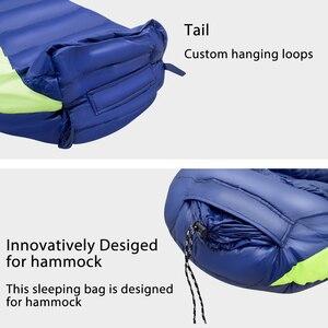 Image 5 - GeerTop Down Fill Ultralight Sleeping Bag Hammock Tent Waterproof Winter Mummy for Camping Outdoor Adults Kids 4 Season