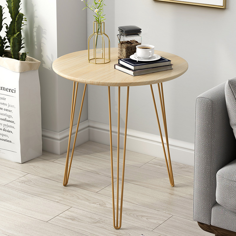 Nordic Sofa Side Living Room Wrought Iron Table Simple Bedside Table Round Table Balcony Small Coffee Table