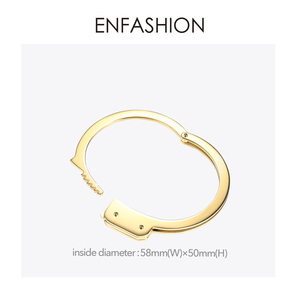 Image 4 - ENFASHION אזיקים קאף צמיד Manchette זהב צבע נירוסטה פאנק צמידי צמידים לנשים תכשיטים B192057