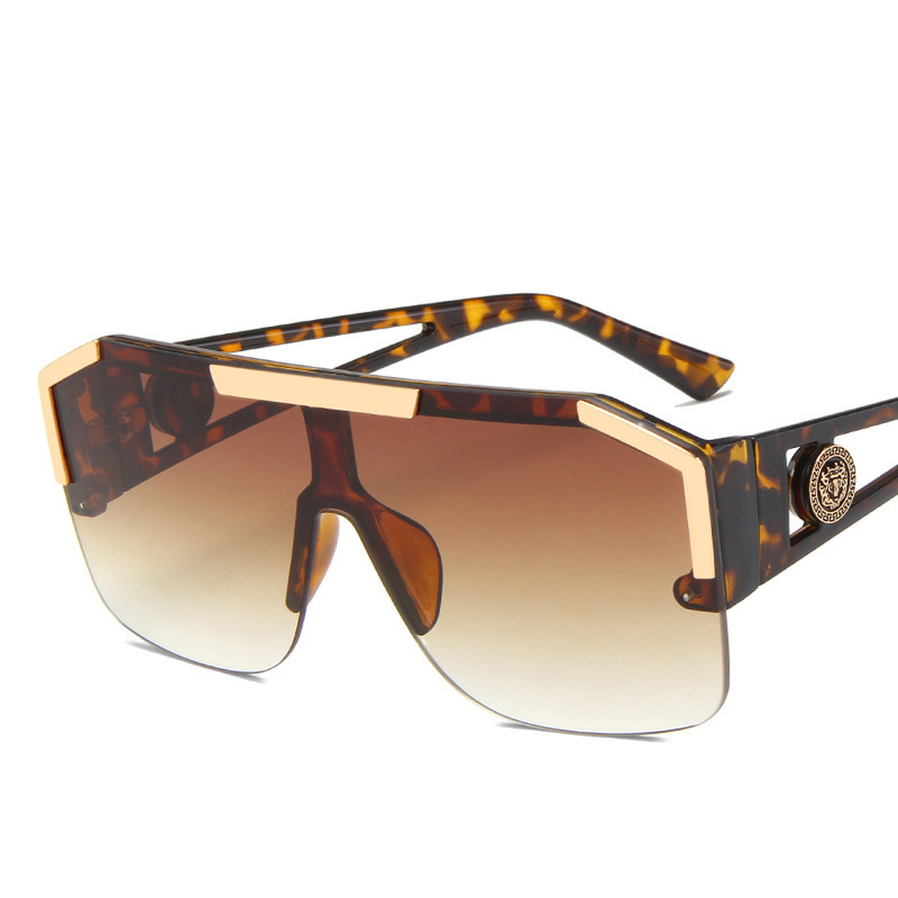 Солнцезащитные очки для женщин для Для женщин 2020 полу без оправы градиентный Сиамские линзы солнечные очки, уличные вождения ветрозащ…