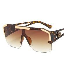 Негабаритных солнцезащитные очки для женщин Для 2020 полу без