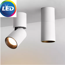 Dimmable Rotation LED Downlights 7W10W15W COB LED Ceiling Spot Lights AC85~265V LED Wall Lamp Warm Cold White Indoor Lighting
