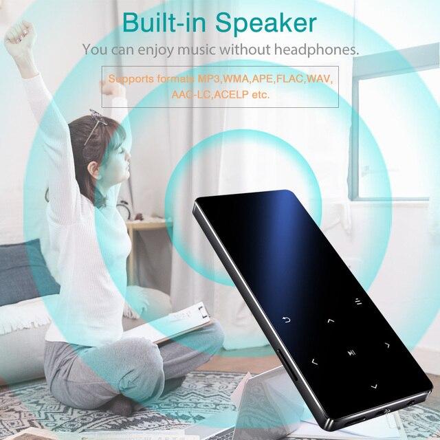 REDANT MP3 Player with Bluetooth Speaker Touch key Built-in 8GB 16GB HiFi Metal Mini Portable Walkman with radio FM recording 5