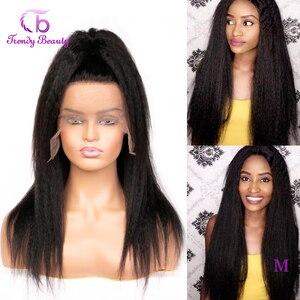 Кудрявые прямые парики 4x 4/13x4 Синтетические волосы на кружеве парики для чернокожих Для женщин 150% плотность Реми бразильские Яки парики из н...