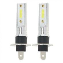 2x H1 1200LM 12W LED Car Headlight Kit Hi/Lo Beam DRL Driving Light Bulbs 6500K