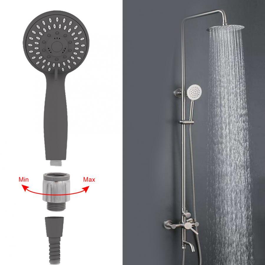 Vidalı duş başlığı su akış regülatörü su basınç ayarı kendi kendini temizleyen damla regülatörü banyo aksesuarları