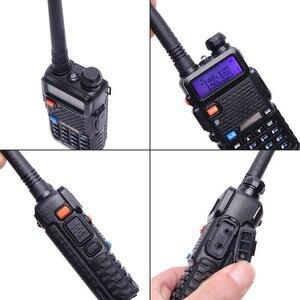 Image 4 - 2 шт. реальная 5 Вт/8 Вт Baofeng UV 5R рация UV 5R мощная Любительская любительская радиостанция CB UV5R двухдиапазонный приемопередатчик 10 км Интерком