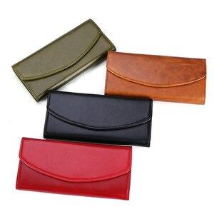 Image 3 - Luxe en cuir véritable sacs à main femme portefeuille longue pochette sacs femmes portefeuilles avec coque de téléphone femme RfidCard titulaire Carteira