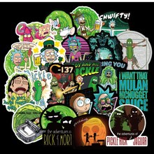 100Pcs American Drama Rick and Morty Sticker Decal For Snowboard Luggage Car Fridge Car- Styling Laptop Stickers(China)