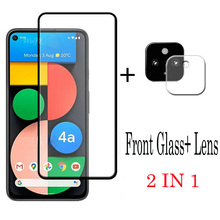 2 IN 1 For Google Pixel 4 XL 4A 5 5XL Protective Anti scratch Tempered Glass Screen Protector Camera Lens Film For Pixel 4A 5G