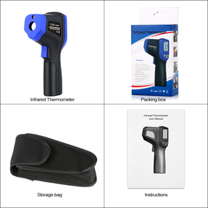 Image 3 - FLUS Laser Infrared Thermometers IR Thermometer Circle Laser Infrared Handheld Digital Electronic Outdoor Hygrometer Thermometer