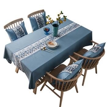 Linen Tablecloth Dining Table Cloth Clothes Cloths Desk Cover Rectangular for Table Decoration Manteles De Mesa Rectangular фото