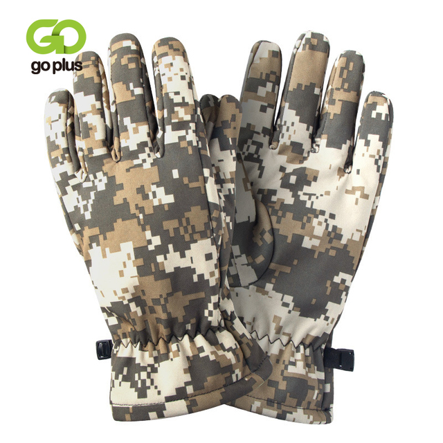 Quality Hunting Gloves Full Finger Plus Velvet Gloves Outdoor Tactical Camouflage Special Forces Cs Ski Riding Wild Hunting 1