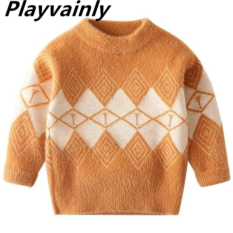 Wholesale Boys Sweaters 2020 Autumn Winter new Wool Long Sleeve Fashion Thick Sweaters Baby Clothes AL005