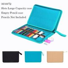 Estuche para lápices escolares lienzo 36/48/72 agujeros bolsa para lápices profesional caja de lápices para niños y niñas sanciones de la bolsa de almacenamiento de marcador