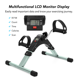 Mini Folding Fitness Pedal Stepper Exercise Machine LCD Display Indoor Stepper with Adjustable Resistance For Home Office Gym