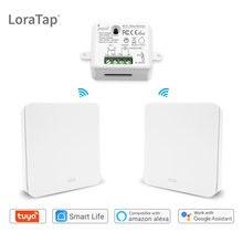 Wifi interruptor de luz inteligente com interruptor sem fio rf nenhuma bateria necessária, controle remoto de iluminação, alexa eco google casa controle de voz