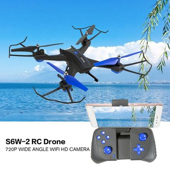 S6W-2 Smart RC Drone Aircraft with Wifi FPV 2MP HD Wide Range Camera Altitude Hold 3D Flips Headless Mode
