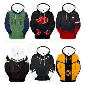Naruto Men Hoodie 2019 Autumn Male Hip Hop Streetwear Women Children Pullover Hoodies Costume Men