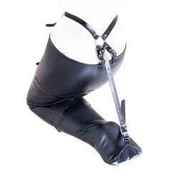 Women's Leg Binder,Leather Mermaid Body Sack, Strait Jacket Restraint, Arm binder,Halloween Costume