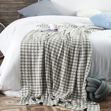 REGINA Knitted Blanket Summer Outdoor Picnic Fashion Houndstooth Pattern Women Blanket Shawl Home Decor Bedspread Sofa Cover