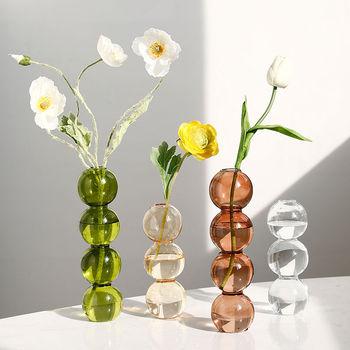 Strona główna szkło dekoracyjne wazon wystrój pokoju kryształowy wazon nowoczesne rośliny hydroponiczne europejskie świeże na wesela imprezy imprezy kreatywne tanie i dobre opinie CN (pochodzenie) Europa Szklane i kryształowe Blat wazon Vase Home Decorations glass