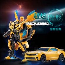Car Super Heroes Bumblebee Deformation Transformer Robot Autobot Transformation Warrior Toys for Children Boy Gift