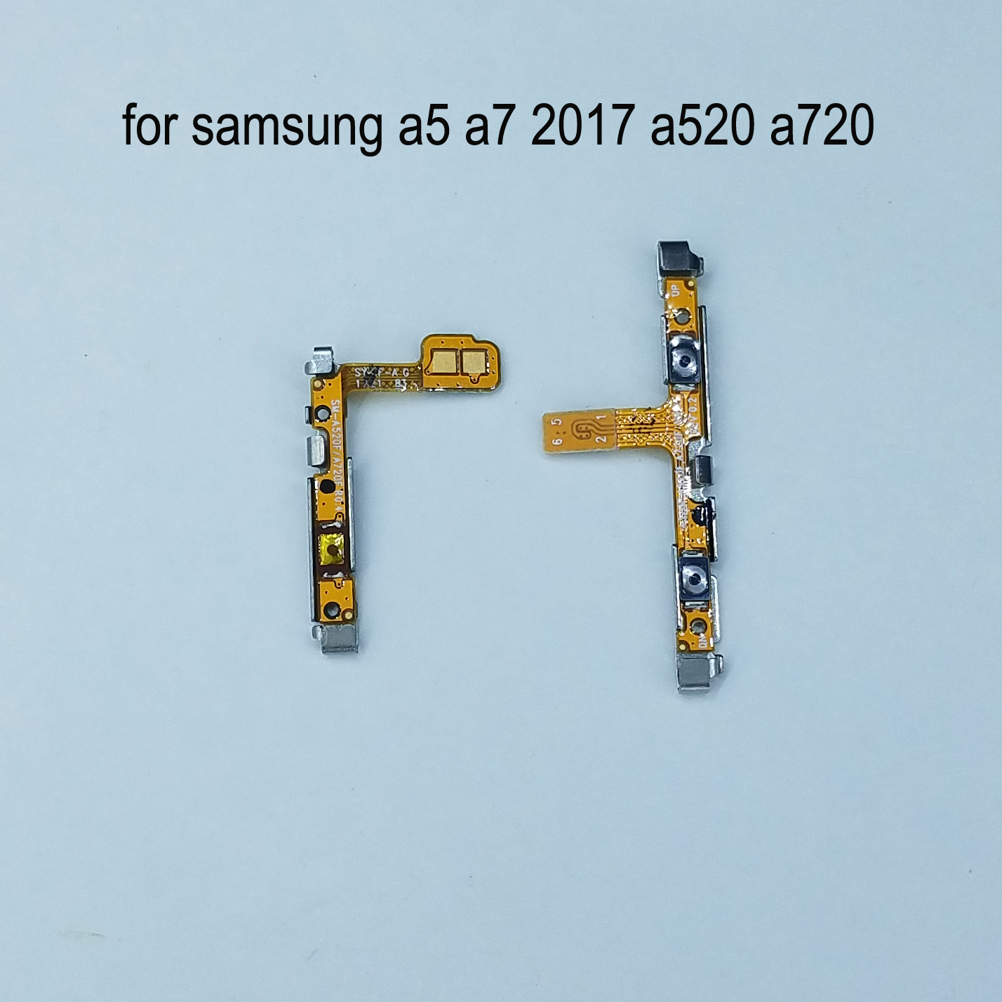 For <font><b>Samsung</b></font> Galaxy <font><b>A5</b></font> 2017 <font><b>A520</b></font> A520F A7 2017 A720 A720F Original Phone Housing Power Volume Button On Off Key Flex Cable image