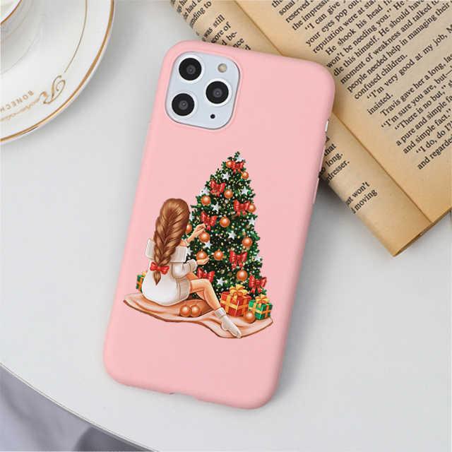 クリスマスツリーのファッションbossコーヒーヴォーグガールピンクソフトシリコンケースcoque iphone 11 プロmax x xs xr 6 6s 7 8 プラスse 5 5s