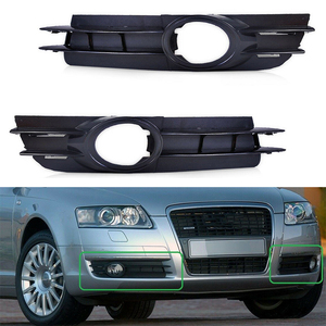 Image 1 - 2pcs ซ้ายขวาด้านหน้ากันชนไฟตัดหมอกสำหรับ Audi A6 A6 Quattro C6 2005 2006 2007 2008 4F0807681A 4F0807682A