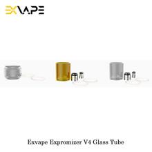 Oryginalny Exvape Expromizer V4 MTL RTA szklana rurka bańka akrylowa szklana rurka z pyreksu 4ML pojemność dla Expromizer V4 Vape tanie tanio Exvape Expromizer V4 MTL RTA Glass Tube Szkło