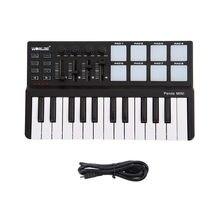 Worlde Panda – mini clavier USB Portable à 25 touches, avec Pad de tambour, contrôleur MIDI, contrôleur pour Instruments de musique
