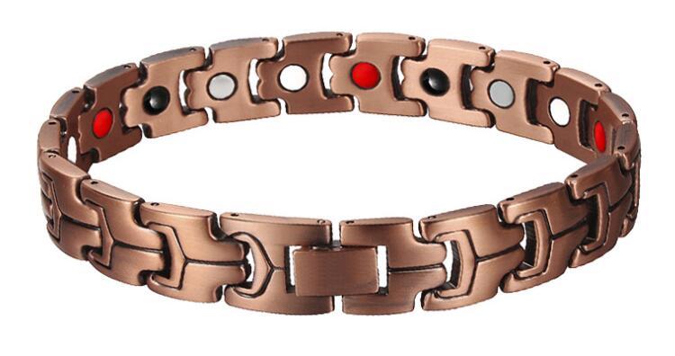 Red Copper Magnetic Bio Energy Bracelets & Bangles for Men Healing Magnet Bracelet Female Jewelry
