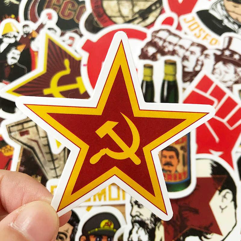 """10/30/50PCS מעורב ברית המועצות סטאלין בריה""""מ CCCP HET מדבקות עמיד למים PVC סקייטבורד גיטרה מטען אופנוע מדבקת ילד צעצוע"""