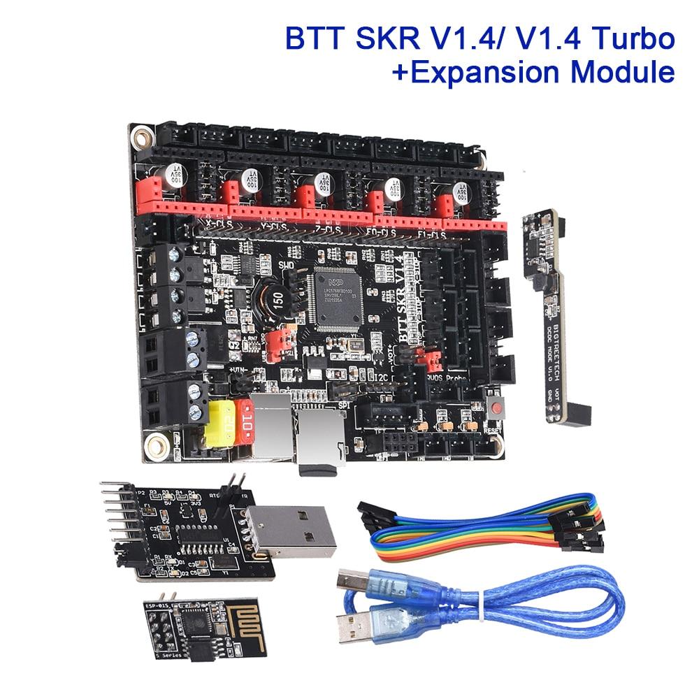 BIGTREETECH SKR V1.4 плата управления V1.4 турбо с DCDC RGB WIFI модуль ESP01S BTT писатель 3D принтер части Расширительная плата UART